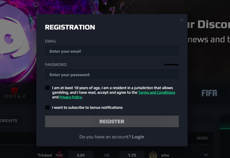 Loot.Bet registration
