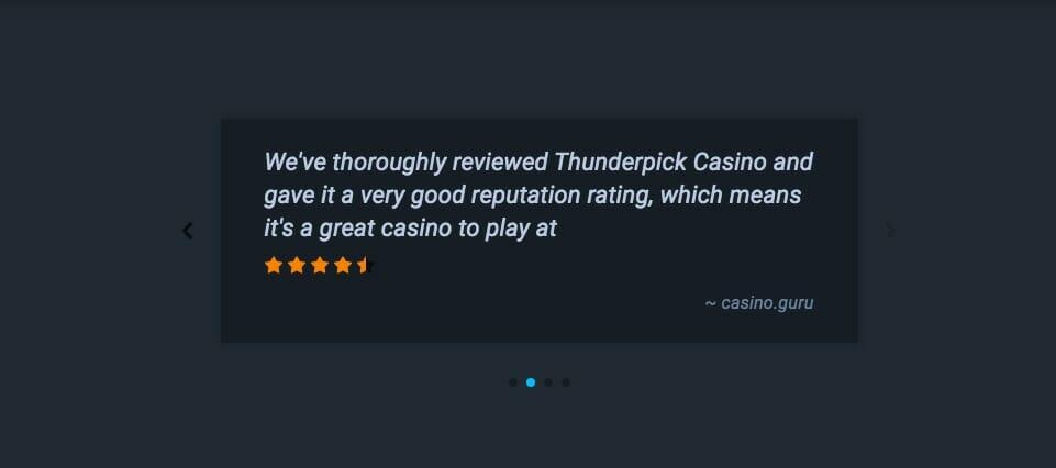 Testimonianza di Thunderpick