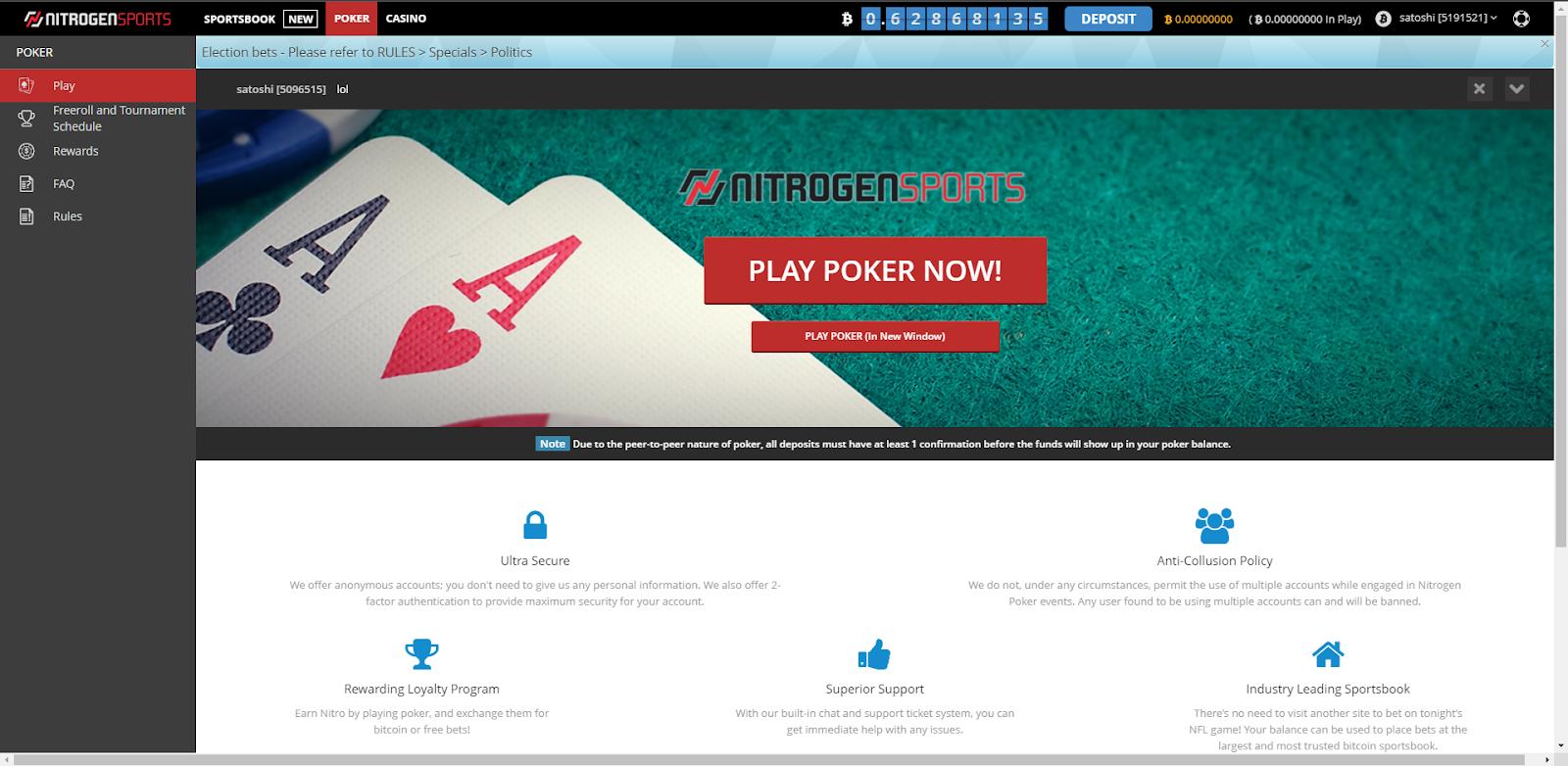 Nitrogen Sport Poker