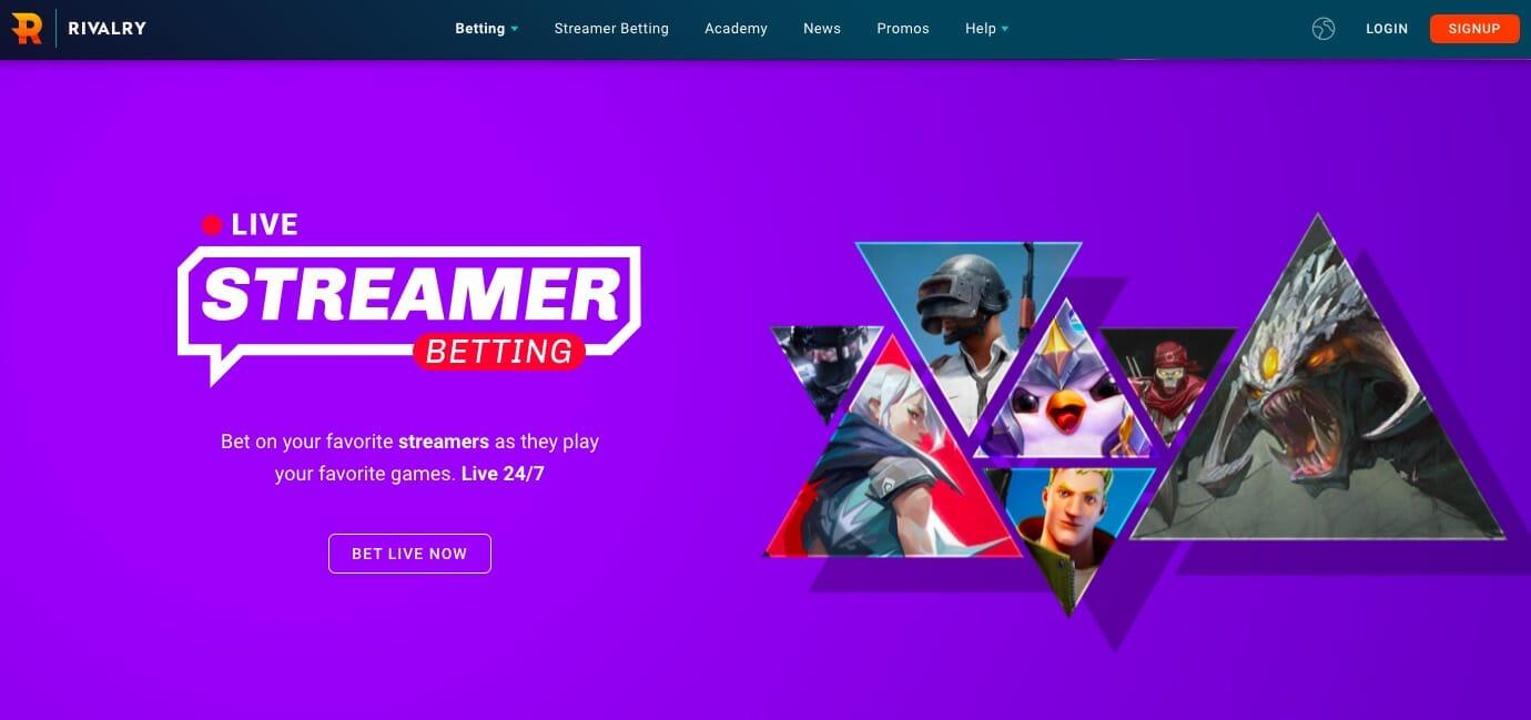 Rivalry live streamer betting