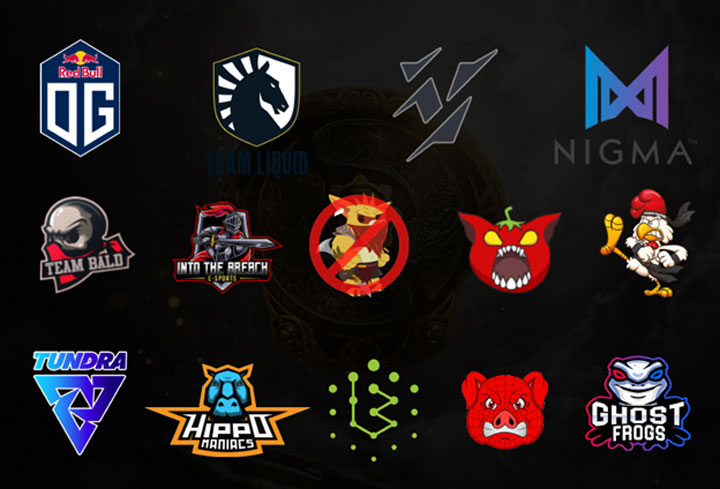 The International 10 teams