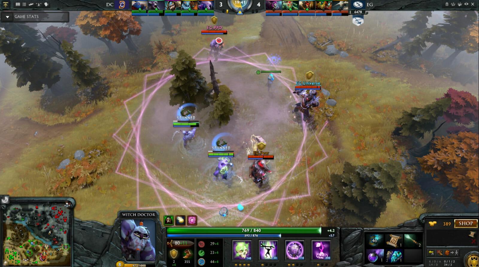 Dota-2 gameplay